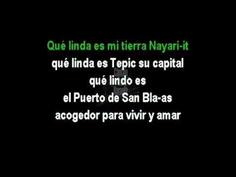 Mi Lindo Nayarit - Banda El Recodo - Karaoke - HD - Cántala Con Karaoke