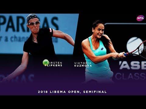 Kirsten Flipkens Vs. Viktoria Kuzmova   2018 Libema Open Semifinals   WTA Highlights