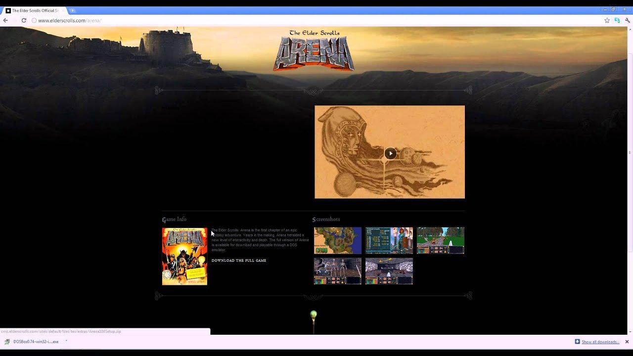 Let's Play the Elder Scrolls: Arena Part -1: Installing Arena part 1