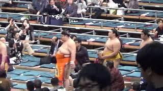 貴ノ岩  騒動後初の十両土俵入り  平成30年3月場所初日 貴ノ岩 動画 18