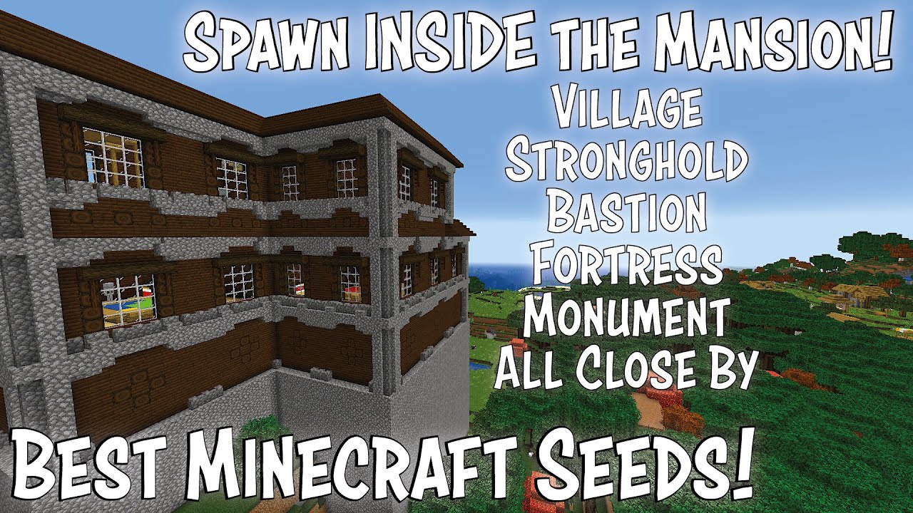 Best Minecraft 1.17 Seed   Spawn INSIDE the Mansion plus MUCH MORE   Amazing Minecraft Survival Seed