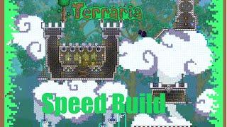 Terraria speed build - Mini castle in the clouds!