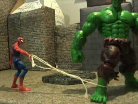 hulk vs spider man stop motion