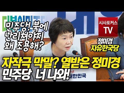 """자작극 막말? 열받은 정미경, """"민주당 너 나와!"""""""