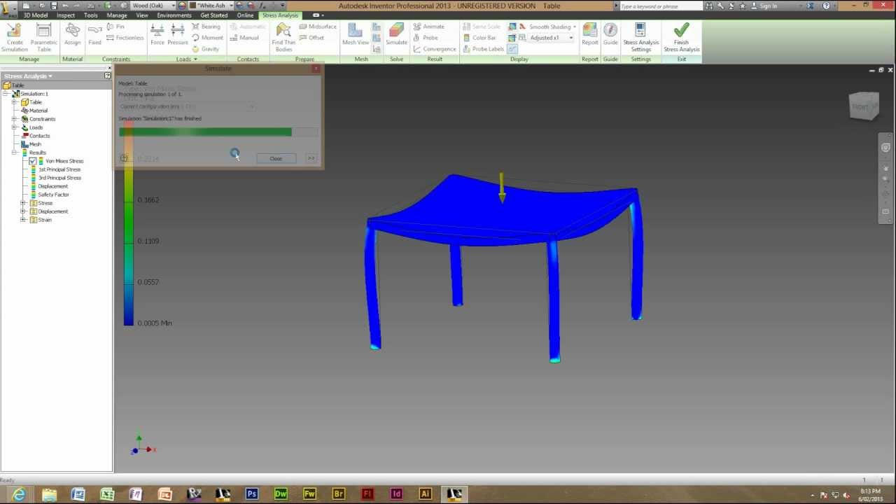 autodesk inventor 2014 using and creating a stress analysis youtube rh youtube com Inventor 2012 Inventor 2008