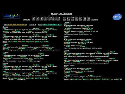 Wham - Last Christmas (Jam track with guitar chords & lyrics)