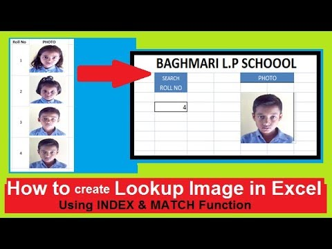 Lookup picture with INDEX & MATCH | Using Math Function | easy step