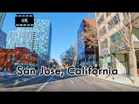 Driving in Downtown San Jose, California – 4K