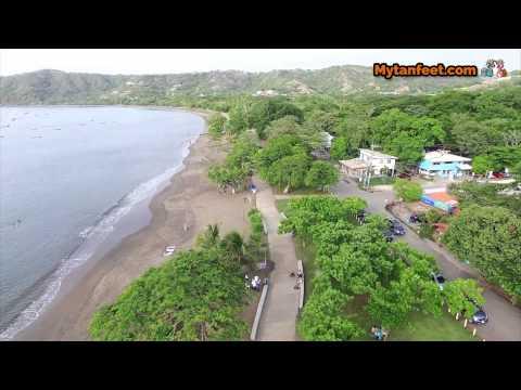 Aerial video of Playas del Coco, Guanacaste, Costa Rica
