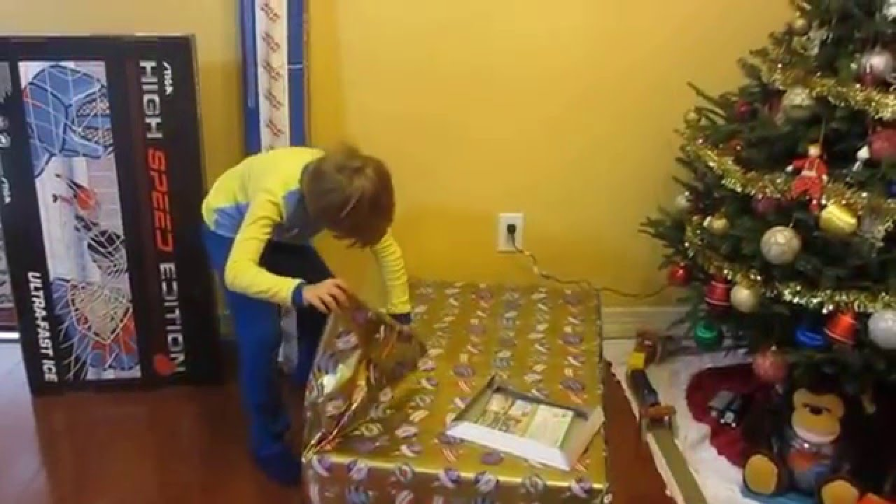 SANTA HERE!!!7 YEAR OLD BOY OPENING CHRISTMAS GIFTS -2 - YouTube