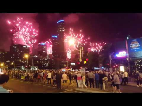 Melbourne Australia New Year Eve Fireworks 2017 Crown Casino Convention Exhibition Centre
