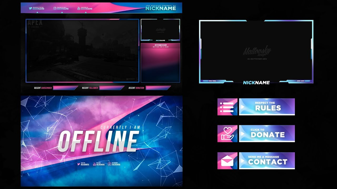 Free Twitch Stream Overlay Template 2019 10