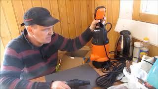 дренажный насос Вихрь 750 в работе # Качаю новый колодец # Обзор и тест #