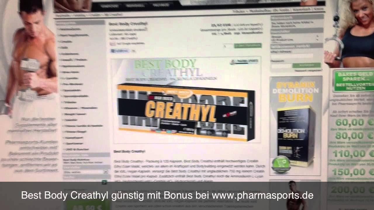 Best Body Nutrition Creathyl Creatin mit Creatineethylester Ornitin Alanin Lysin