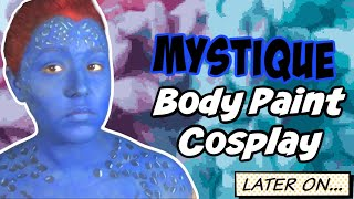 Mystique Body Paint Tutorial (31 Days of Halloween) (NoBlandMakeup)
