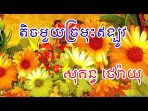 Sokun Therayu | Khmer Song | Khmer Old Song | Town CD Vol 93 | តិចមួយច្រមុះឥឡូវ