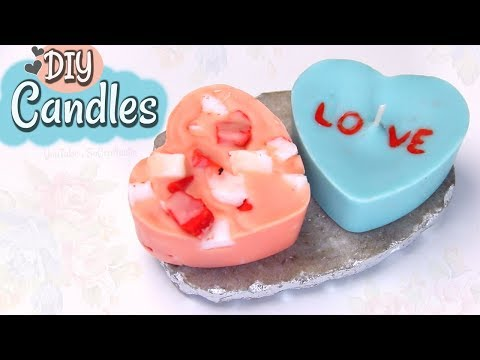 DIY HEART CANDLES for Valentine's Day | Candle DIYs! by SoCraftastic