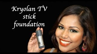 Kryolan TV Stick foundation application how to (Heavy makeup not for daily use) Thumbnail