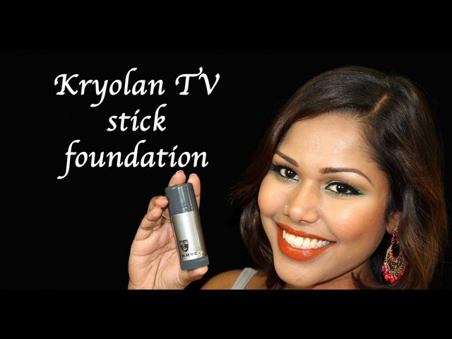 Kryolan TV Stick foundation application how to (Heavy makeup not for daily use) Travel Video