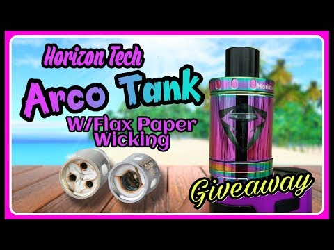 Arco Tank with New Innovative Flax Paper Wicking I Horizon I Giveaway x2