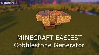 Minecraft Easiest Stone Generator! 4800 St๐ne per Hour