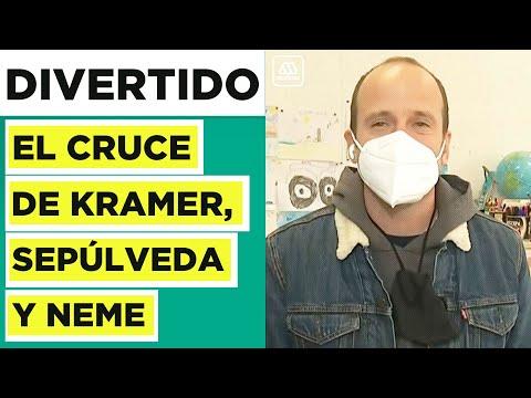 El divertido encuentro de Stefan Kramer con Rodrigo Sepúlveda y José Antonio Neme en elección 2021