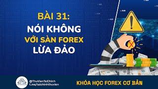 Bài 31: Nói Không Với Sàn Forex Lừa Đảo | Khóa Học Forex Cơ Bản Miễn Phí Dành Cho Người Mới