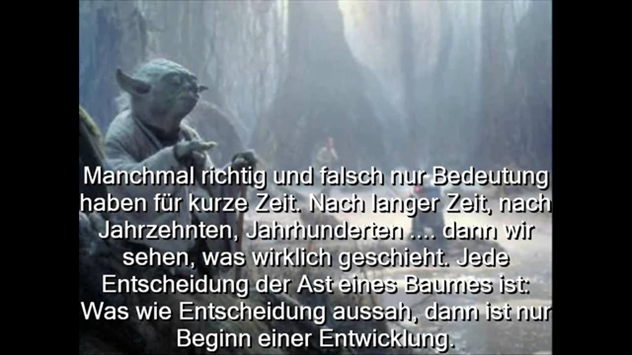 yoda zitate auf deutsch youtube. Black Bedroom Furniture Sets. Home Design Ideas