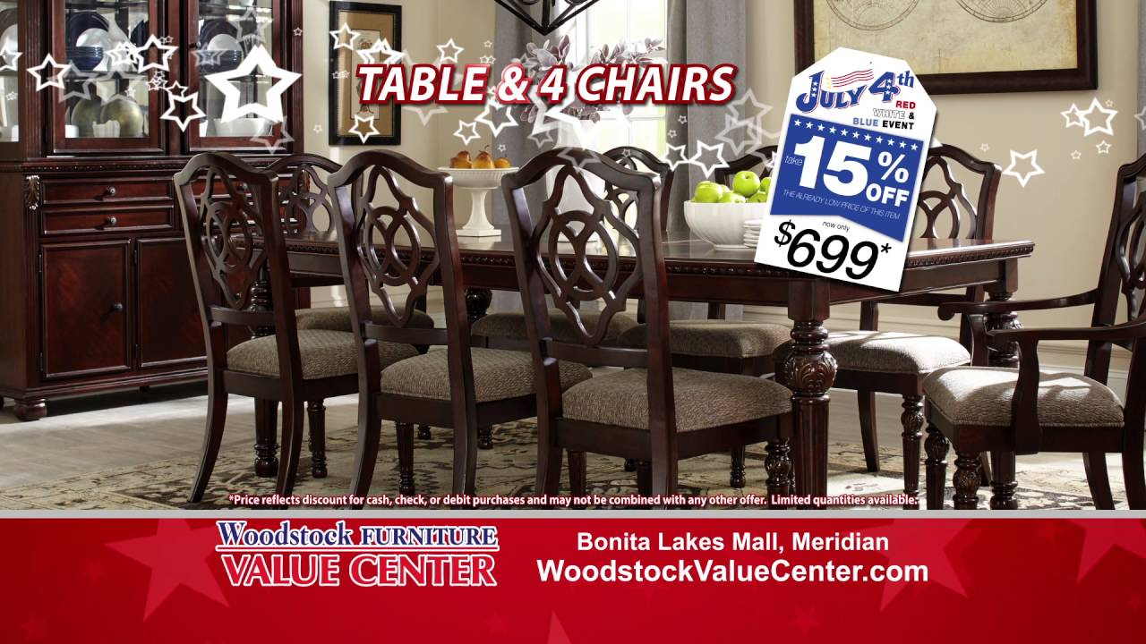 Woodstock Furniture Value Centeru0027s Red White And Blue Sale