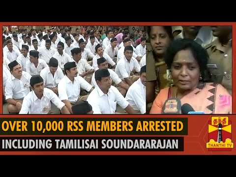 Over 10,000 RSS Members and BJP