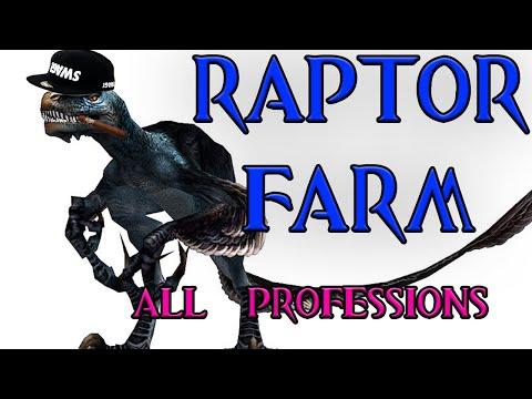 Guild Wars Solo Farm Guide Series #12 - Raptor Farm - All 10 Professions