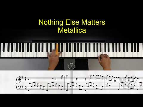 Nothing Else Matters - Metallica - piano tutorial