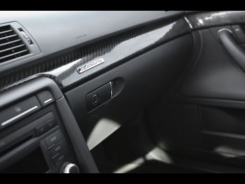 AUDI A4 glove box removal and hinge repair DIY - YouTube