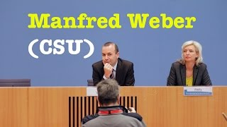 Populismus?! Manfred Weber (CSU), Vorsitzender der EVP-Fraktion - BPK vom 19. Dezember 2016