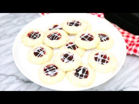 Raspberry Almond Shortbread Cookies - Thumbprint Cookies Recipe