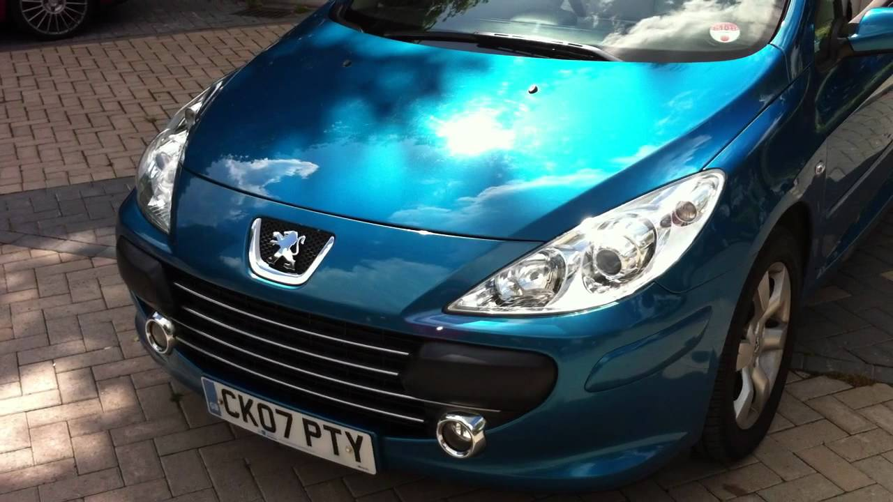 2007 peugeot 307 cc convertibe 1 6 s manual 54 k fsh 1 owner new mot tax full leather mp3. Black Bedroom Furniture Sets. Home Design Ideas