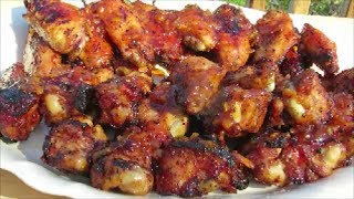 Grilled Chicken Wings - Sweet &amp Spicy Wing Recipe - Weber Grill
