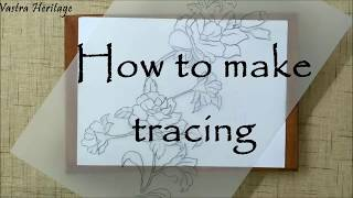 Transferring your embroidery design onto fabric