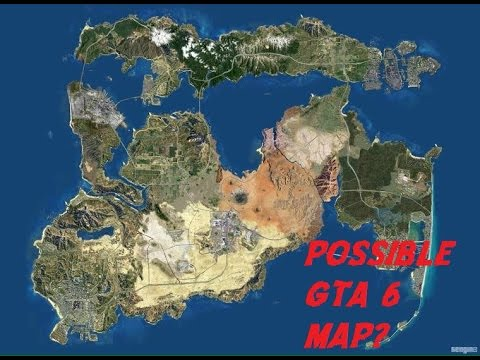 Gta 6 Possible Map Could This Be The Map For Gta 6 Or Is It
