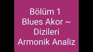 Ders 7 Bölüm 1 Blues Akor ve dizileri armonik analiz