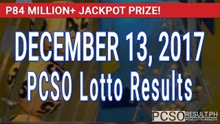 PCSO Lotto Results Today December 13, 2017 (6/55, 6/45, 4D, Swertres, STL & EZ2)