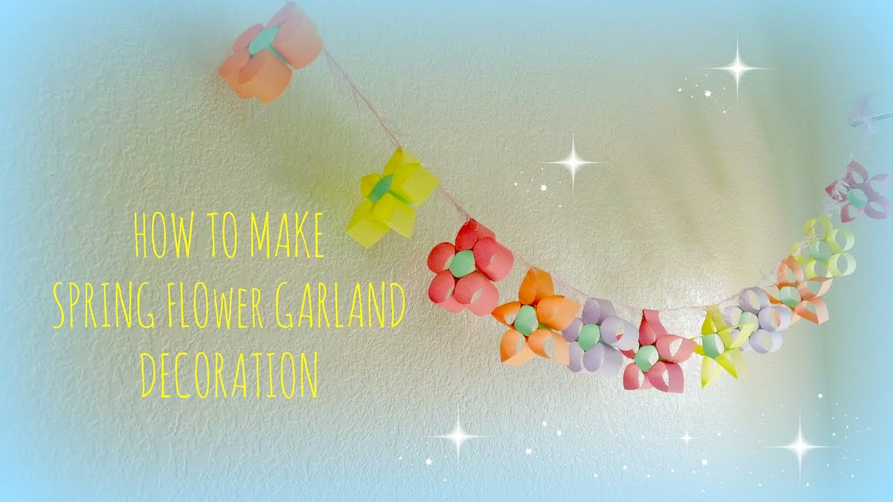 Kids Crafts Colorful Flower Garland For Party Decorations Youtube