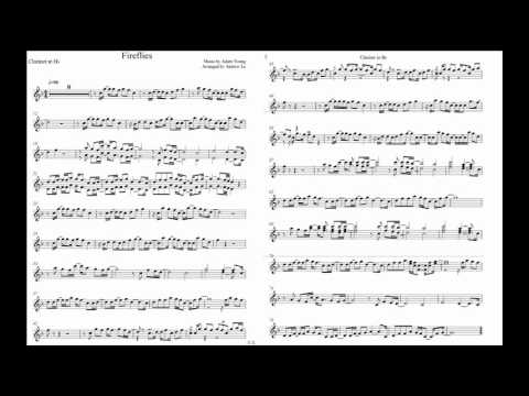 Fireflies Owl City Clarinet Music Sheet Youtube