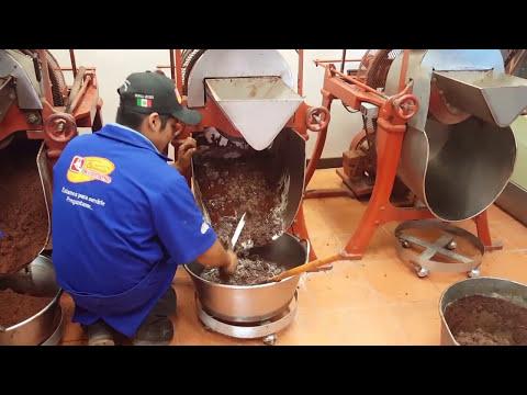 Elaboracion del Chocolate Artesanal en Oaxaca!!! La Molienda!!