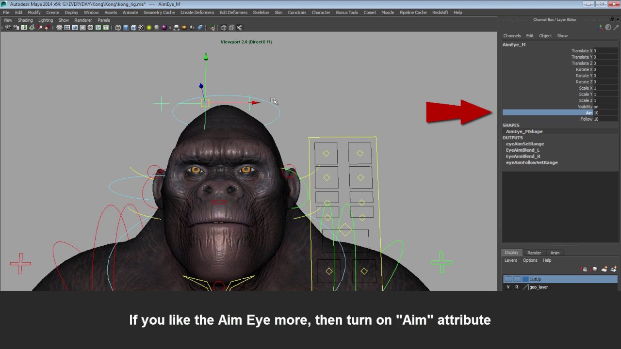 About the eyes controls if you're using Truong Rigs