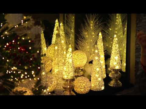 Glitter Berry Cone Trees, Spheres, or Ornaments by Valerie on QVC