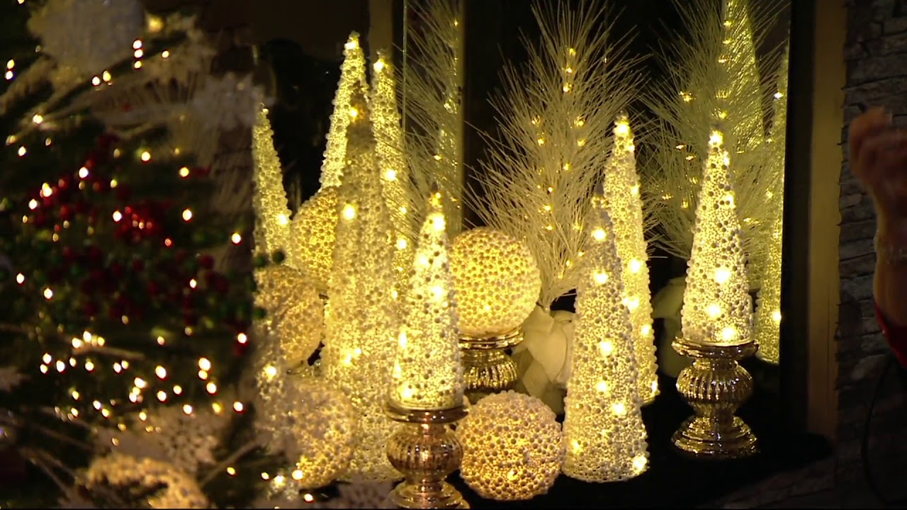 Glitter Berry Cone Trees Spheres Or Ornaments By Valerie On Qvc