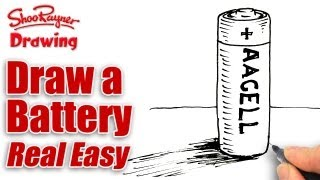 How to draw a battery real easy - spoken tutorial