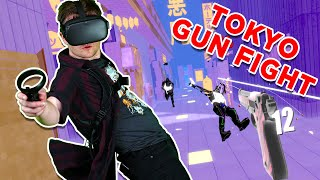Pistol Whip Akuma Update!!! Oculus Quest Mixed Reality Level Hard Full Playthrough