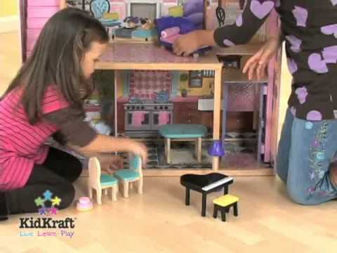 barbie maison de reve pour enfant jouet kidkraft sur youtube. Black Bedroom Furniture Sets. Home Design Ideas